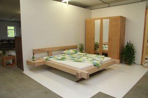 Foto Balkenbett aus Buche